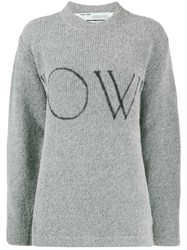 Off White Ow Logo Knitted Jumper 60