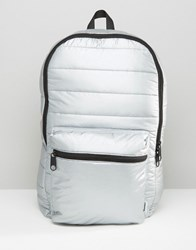 Converse Quilted Metallic Backpack Silver