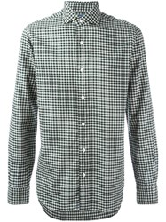 Barba Checked Shirt Green