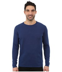 Agave Denim Long Sleeve Crew Rib Medieval Blue Men's Long Sleeve Pullover Navy
