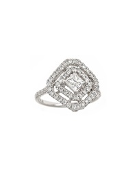 Neiman Marcus Diamonds 18K White Gold Square Shape Diamond Ring