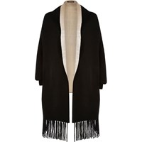 River Island Womens Black Knit Cape