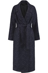 Mother Of Pearl Blair Jacquard Coat Blue