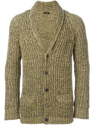 Roberto Collina Shawl Collar Cardigan Green