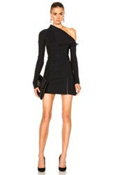 Dion Lee Corded Elastic Laced Dress In Black