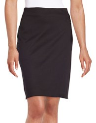 Lord And Taylor Petite Stretch Pencil Skirt Black