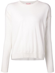 Organic By John Patrick Dropped Rear Hem Sweater White