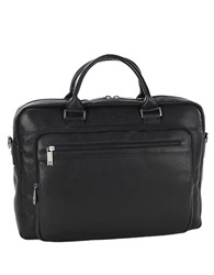 Kenneth Cole Reaction Port Of History Leather Computer Case Black