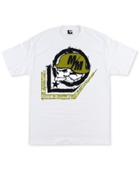 Metal Mulisha Men's Scale Logo Print Cotton T Shirt Optic Whit