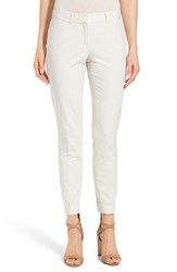 Women's Lafayette 148 New York 'Downtown' Stretch Cotton Blend Cuff Ankle Pants Raffia