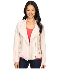 Nic Zoe Sundown Moto Jacket Fawn Mix Women's Coat White