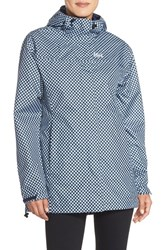 Women's Helly Hansen 'Bellevue' Waterproof Coat Evening Blue Checks