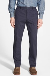 Wallin And Bros 'Bedford' Flat Front Corduroy Trousers Blue