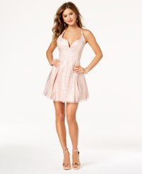 Jump Juniors' Glitter Fit And Flare Party Dress Blush