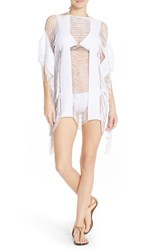 Women's Pilyq 'Monique' Fringe Cover Up Water Lily