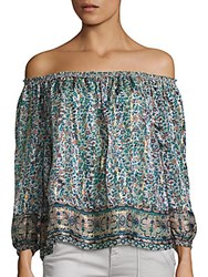 Joie Bamboo Silk Off The Shoulder Blouse Dusty Mink
