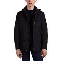 Moorer Manolo Tech Twill Field Jacket Black