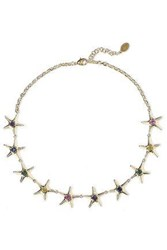 Noir Jewelry Woman 14 Karat Gold Plated Crystal Necklace Gold