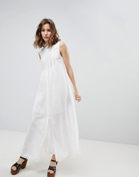 Paul And Joe Sister Button Front Midi Dress White