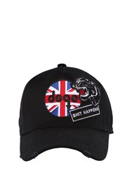 Dsquared Shit Happens Patches Canvas Baseball Cap