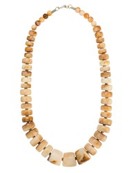 Olympiah Marrocos Geometric Necklace Yellow And Orange