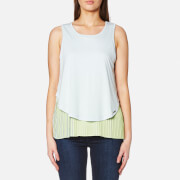 Boss Orange Women's Talayer Layered Top Light Pastel Blue
