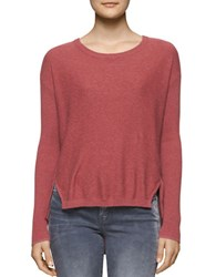 Calvin Klein Jeans Solid Boatneck Pullover Red