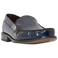 Bertie Royce College Hi Shine Leather Loafers Blue