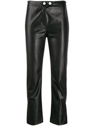 Pinko Faux Leather Cropped Trousers 60