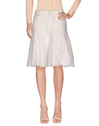 Richmond Denim Knee Length Skirts Ivory