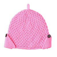 Lowie Hand Knit Cashmere Blend Pixie Beanie In Neon Pink