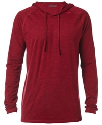 Fox Men's Hoodie Heather Burgundy