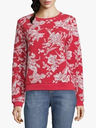 Betty And Co. Floral Print Jumper Red
