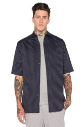 Wil Fry Short Sleeve Utility Shirt Navy