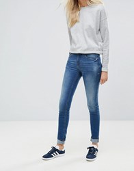 Blend She Bright Blush Skinny Jeans Med Blue Denim Navy