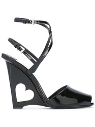 Prada Wedged Sandals Black