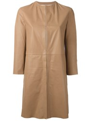 Drome Cropped Sleeve Coat Nude Neutrals