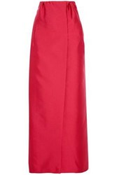 Merchant Archive Duchesse Satin Maxi Skirt Red