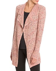 Nic Zoe Plus Marled Knit Open Front Cardigan Pink Multi