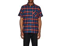 Ovadia And Sons Plaid Cotton Flannel Shirt Blue