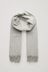 Cos Wool Cashmere Scarf Grey