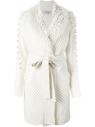 Temperley London Belted Cardigan Nude And Neutrals