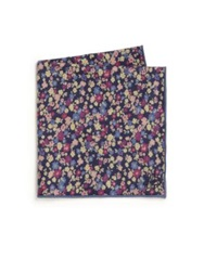 Hook Albert Liberty Floral Pocket Square Multicolor