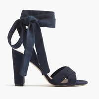 J.Crew Suede Sandals With Ankle Wraps