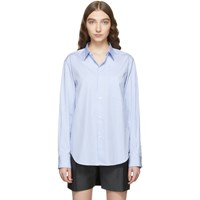 Junya Watanabe Blue And White Cotton Stripe Shirt