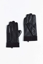 Urban Outfitters Uo Leather Canvas Glove Black