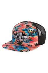 Vans Classic Patch Trucker Plus Hat Red Dystopia Floral