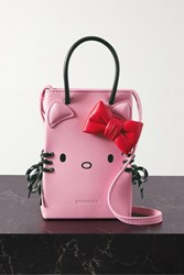 Balenciaga Hello Kitty Mini Printed Leather Shoulder Bag Baby Pink