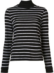 Re Done Striped Roll Neck Top Blue