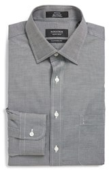 Men's Big And Tall Nordstrom Traditional Fit Non Iron Dress Shirt Black Rock